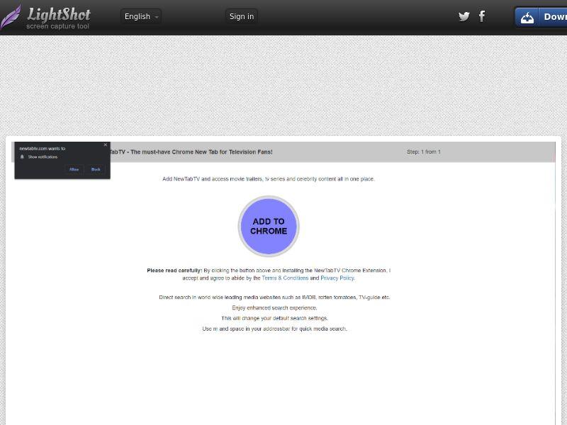 NewTabTV US | browser extension