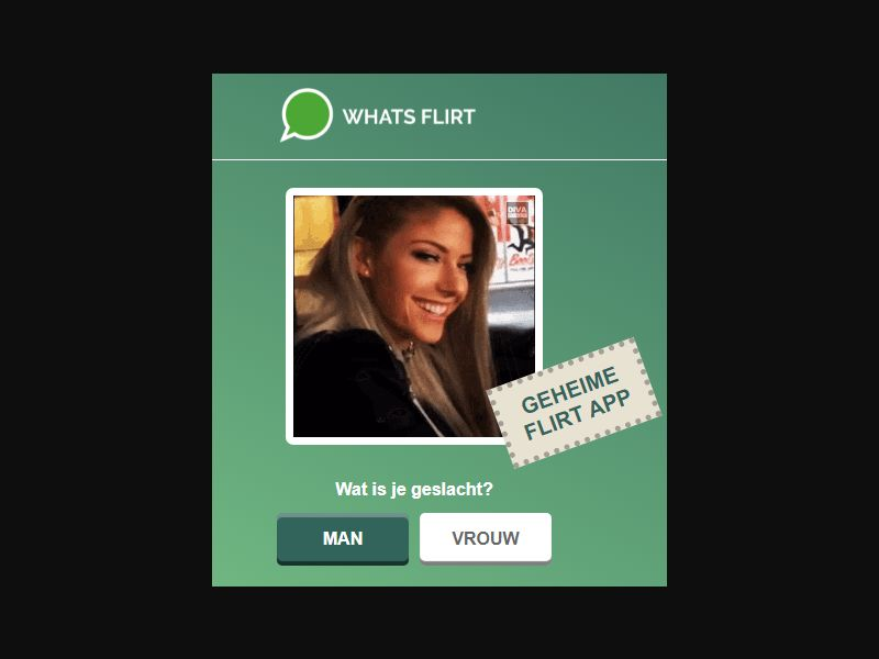 DE/UK/NL/AT/CH/BE/US - Whats Flirt Desktop - Prelander [GB] - DOI registration