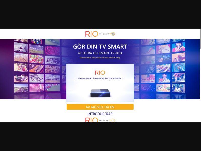 Rio - Smart TV 123 - Swedish Video page - eComm / Gadgets - SS - [SE]