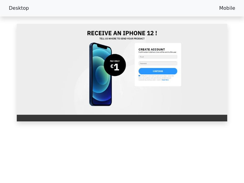 Win an iPhone 12 Color Choose Black - CC-Submit - FR