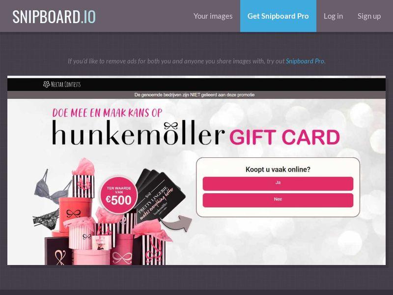 37369 - NL - NectarContests - Hunkemoller Giftcard $500 - SOI