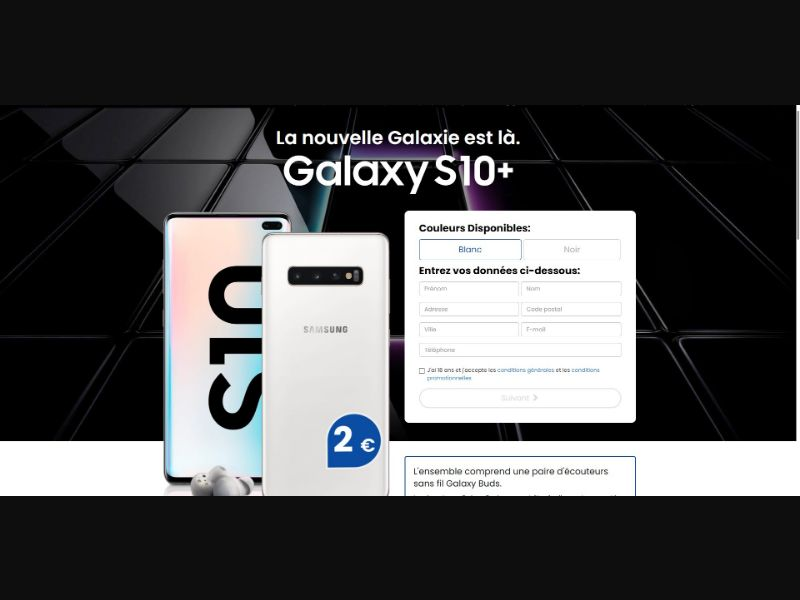 Samsung Galaxy S10+ - Sweepstakes & Surveys - Trial - [FR]