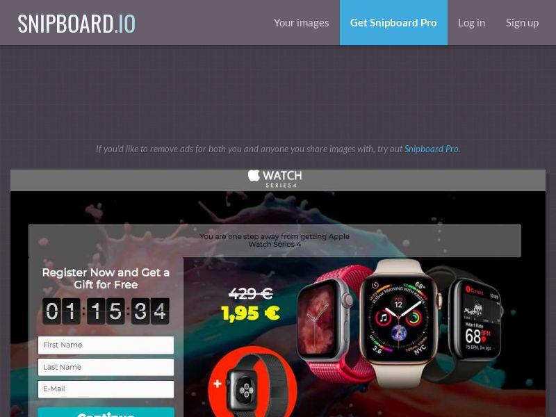 G33K Premium - Apple Watch 4 FR - CC Submit