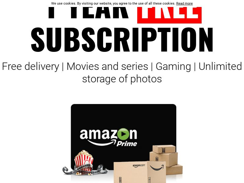 Amazon Prime - 1 year Free Subscription CPL [UK]