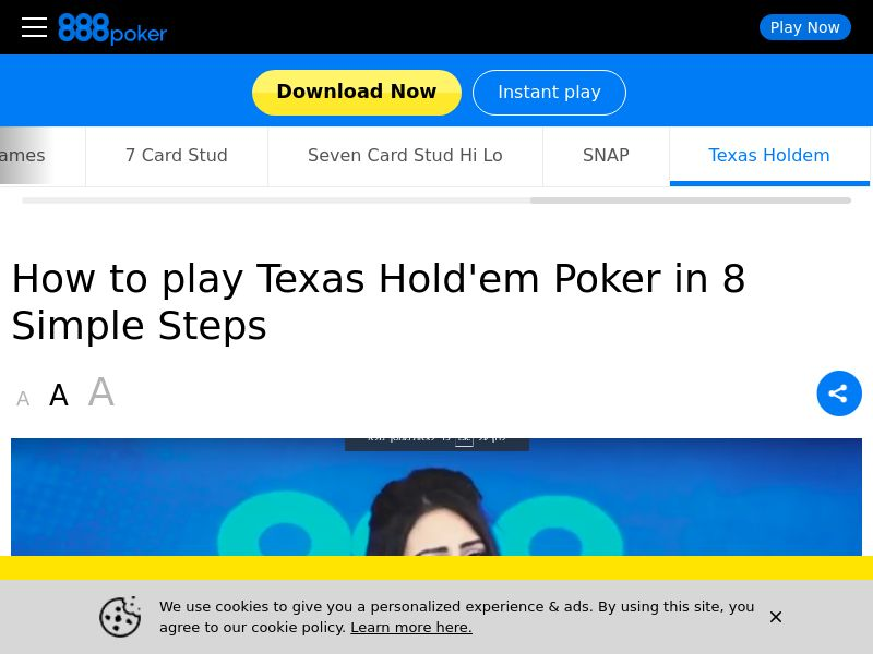 888 Poker Texas Holdem - Android - UK - CPA - DIRECT