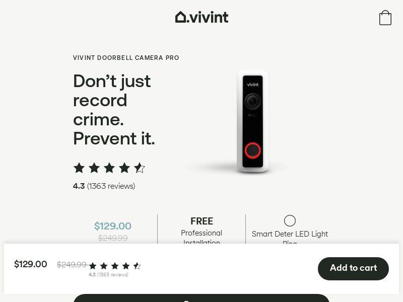 Vivint Smart Home - Security - Revshare 22% - [US]