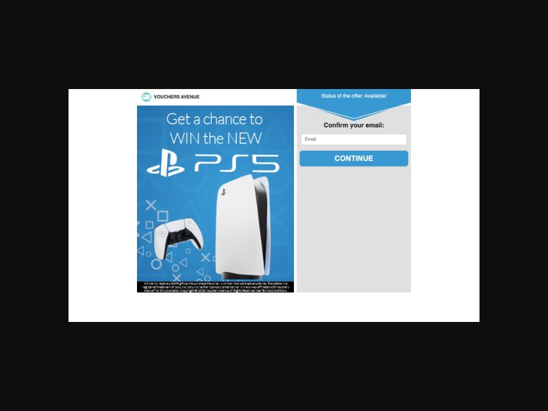 VouchersAvenue Win a Playstation 5 (US) SOI
