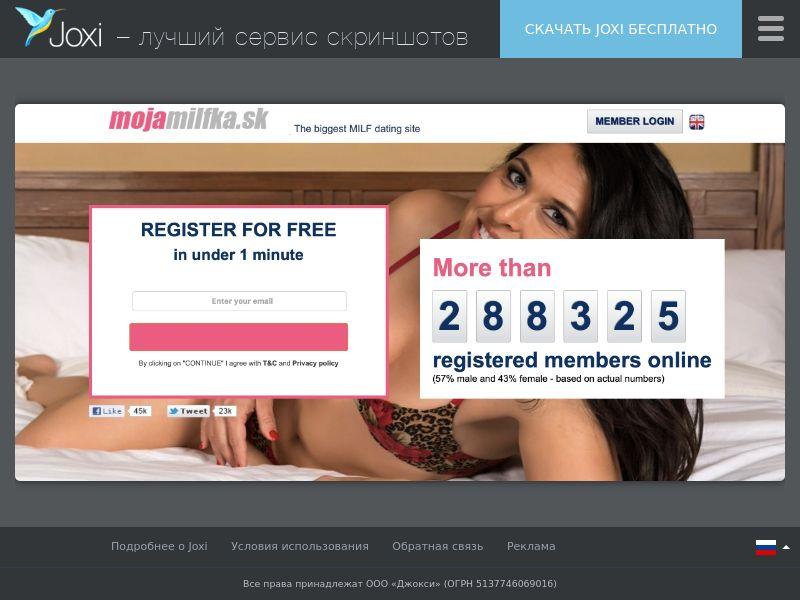 WEB/MOB mojamilfka.sk CPL DOI /SK