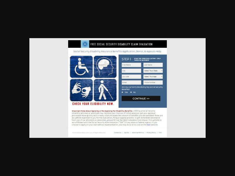 Social Security Disability Benefits - PPL Only (US)