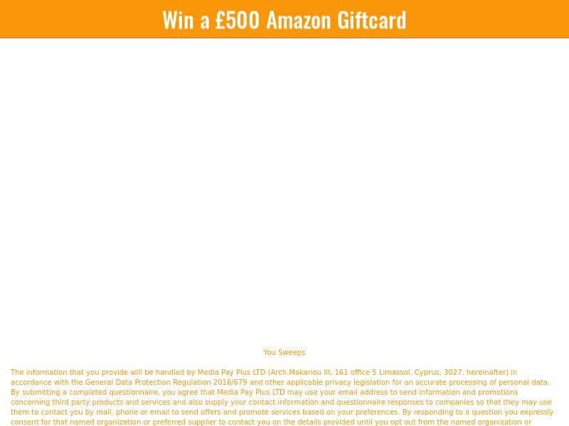 Sweepstake Amazon Giftcard £500 - CPL - [UK]