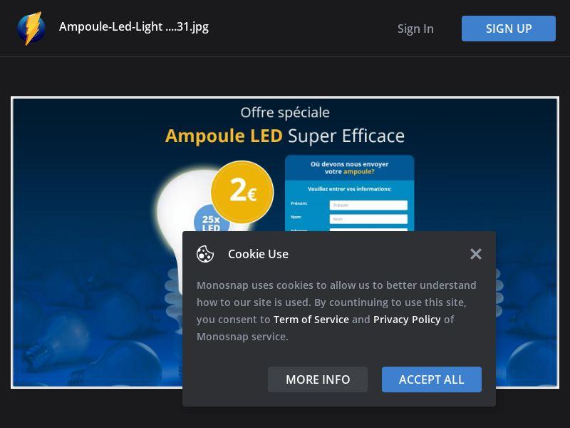 France (FR) - Ampoule LED Phillips 2€ (Responsive)