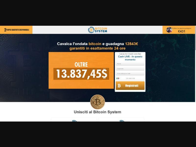 Bitcoin System - €250 min CTC - VSL - Crypto - SS - [16 GEOs]