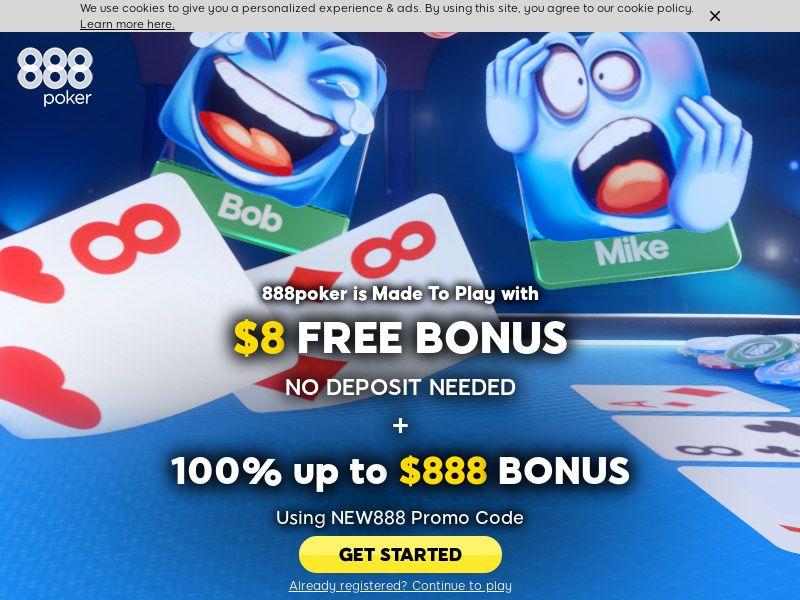 888 Poker CPA AT, CA, DE, FI, UK, NO, SE