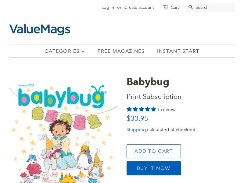 Babybug Magazine Subscription - US - CPS