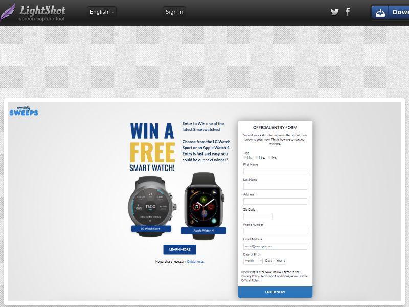 MonthlySweeps - Smart Watch