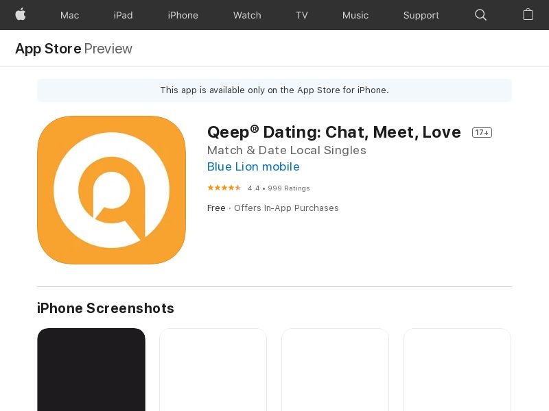 Qeep Dating App_IN_TR_DE_FR_US_BR_iOs_NonIncent_CpA <<*PENDING*PRIVATE OFFER*>>