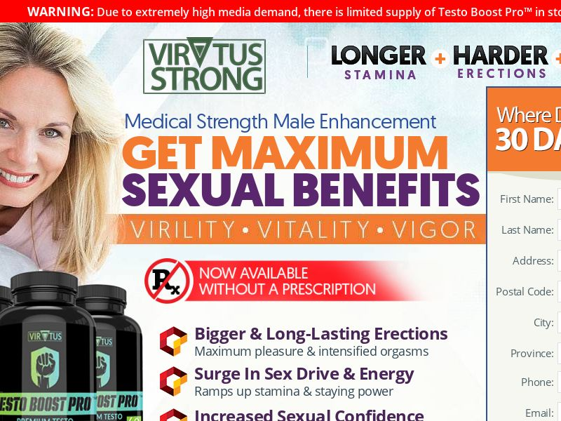 Virtus Strong Male Enhancement Trial w/ Upsell - CA