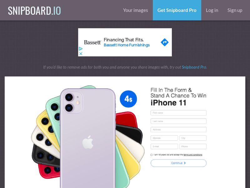 BigEntry - iPhone 11 v1 NZ - CC Submit