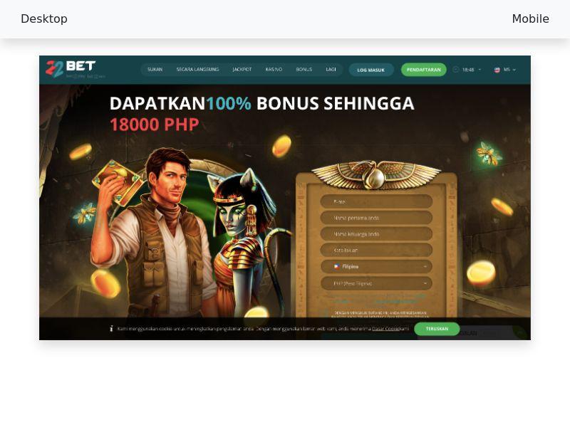 22 bet Casino|Betting - CPA - MY, PH, IN