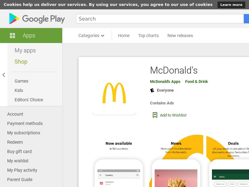 McDonalds- GMAL Android SA City Trageting