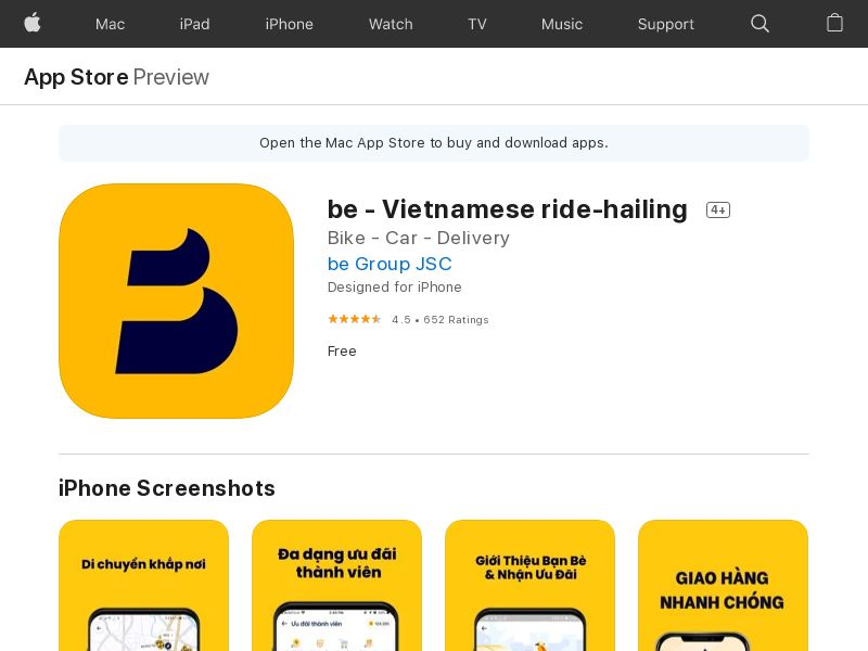 be - Vietnamese ride-hailing
