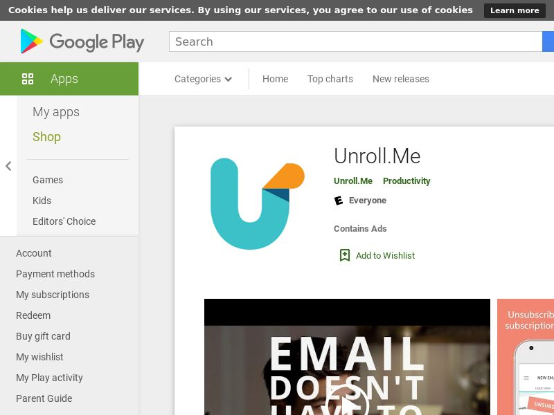 Unroll.Me - Easier Way To Unsubscribe From Email Lists (Android CPE) US