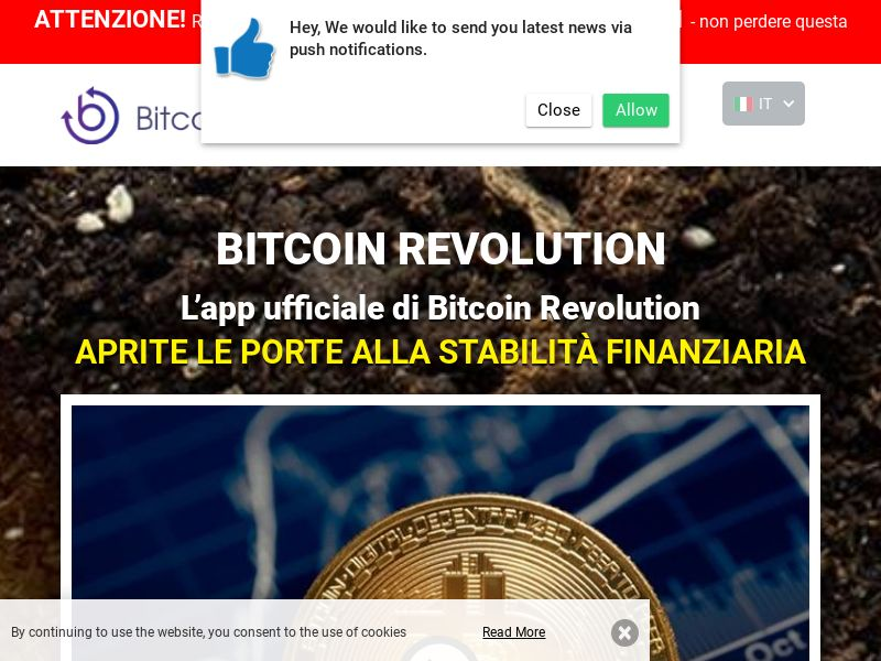 Bitcoin Revolution - IT (IT), [CPA], Business, Investment platforms, Cryptocurrencies, Deposit Payment, bitcoin, cryptocurrency, finance, money