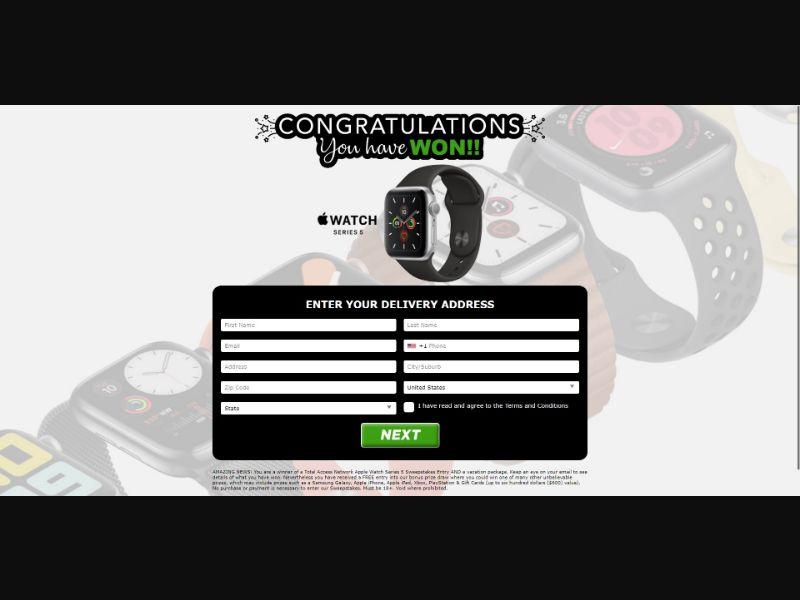 Apple Watch Series 5 - Sweepstakes & Surveys - Trial - [US]