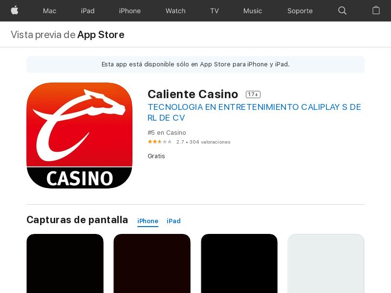 Caliente Casino iOS MX CPE
