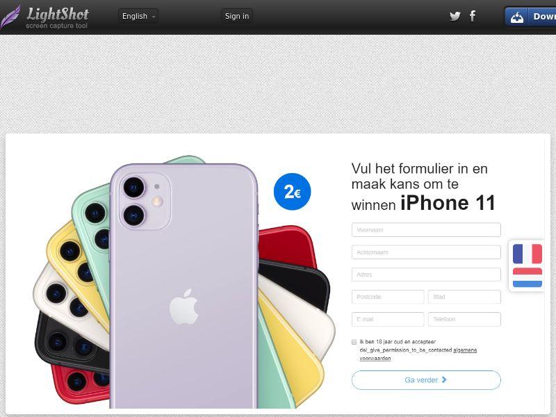 PremiumDeals iPhone 11 v1 (Sweepstake) (CC Trial) - Belgium [BE]
