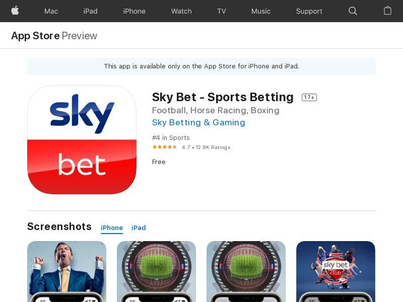 Skybet - Sports Betting IOS UK IDFA APPNAME