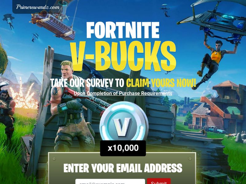 Fortnite V-Bucks Sweepstakes CPL - USA (*Incent)