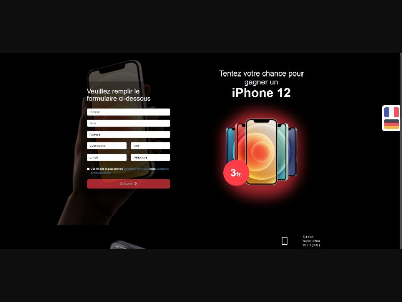 iPhone 11 - Sweepstakes & Surveys - Trial - [CH]