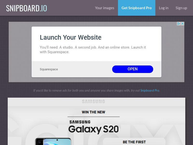 MagnificentPrize - Samsung Galaxy S20 UK - CC Submit