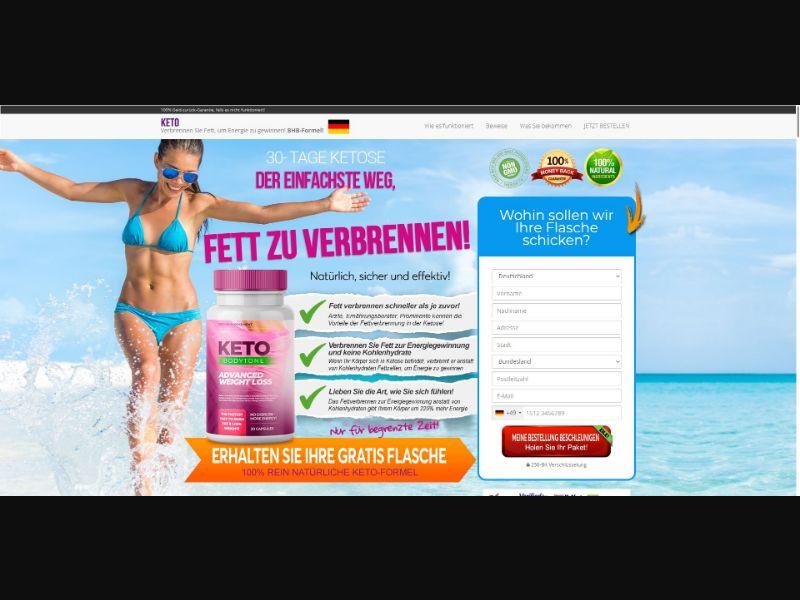Keto BodyTone - Diet & Weight Loss - SS - NO SEO - [DE]