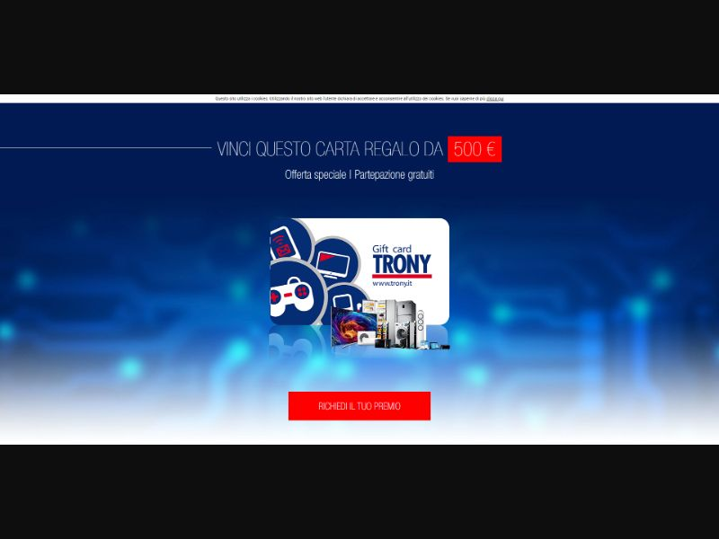 Trony Giftcard - INCENT - IT