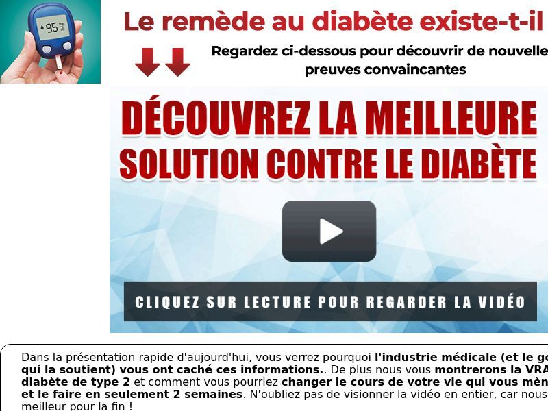 GlucoType 2 [INTL - French] (Email,Native,Social,Search,SEO,SMS) - CPA