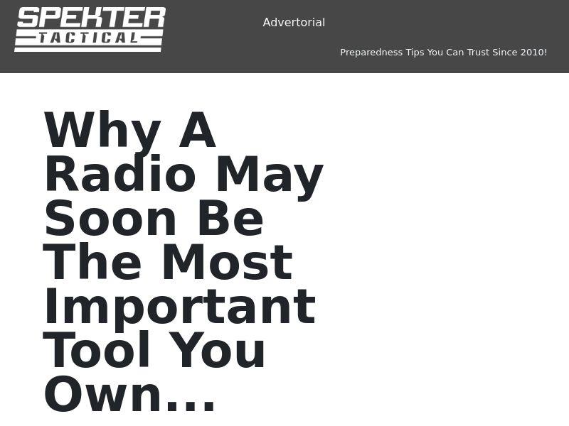 Rapid Alert Survival Radio SS - US