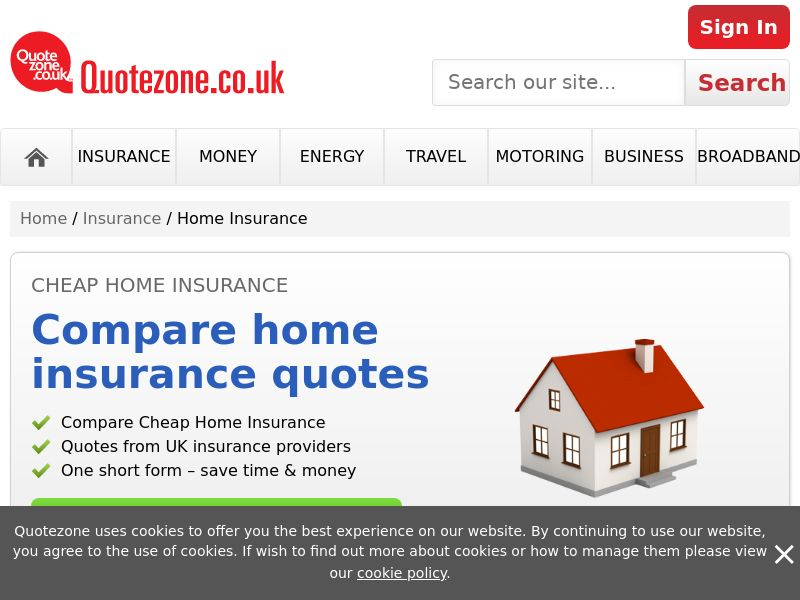 QuoteZone - Compare Home Insurance - CPL (UK)