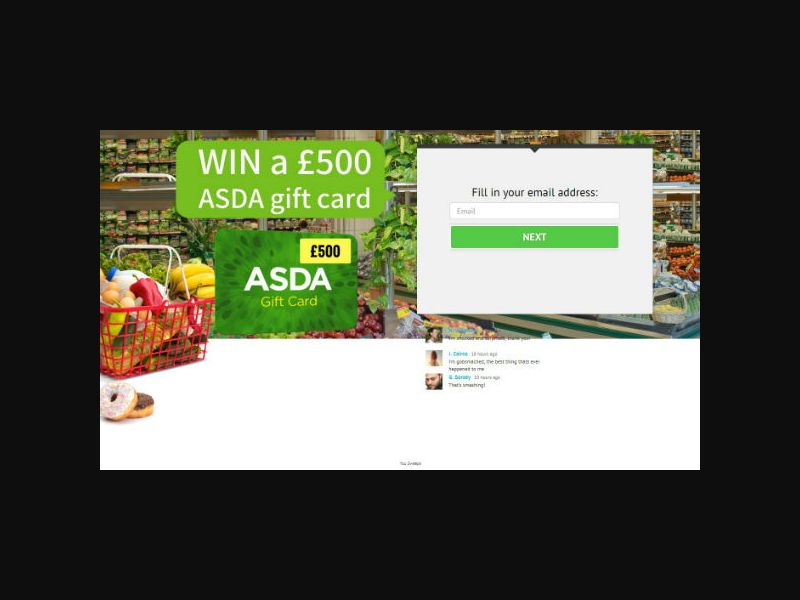YOUSWEEPS - Win a £500 ASDA Giftcard (UK)