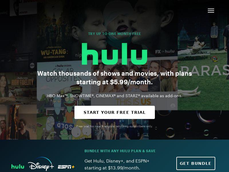 12120) [WEB+WAP] Hulu SVOD - US - CPA cc submit