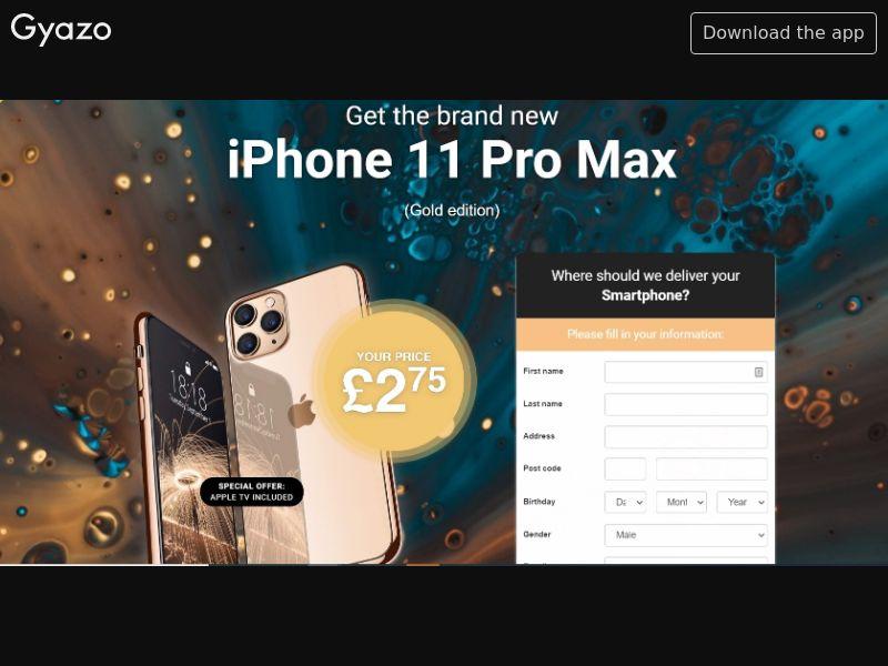 Zombie Zalad iPhone 11 Pro Max (Gold) UK   CC Sub