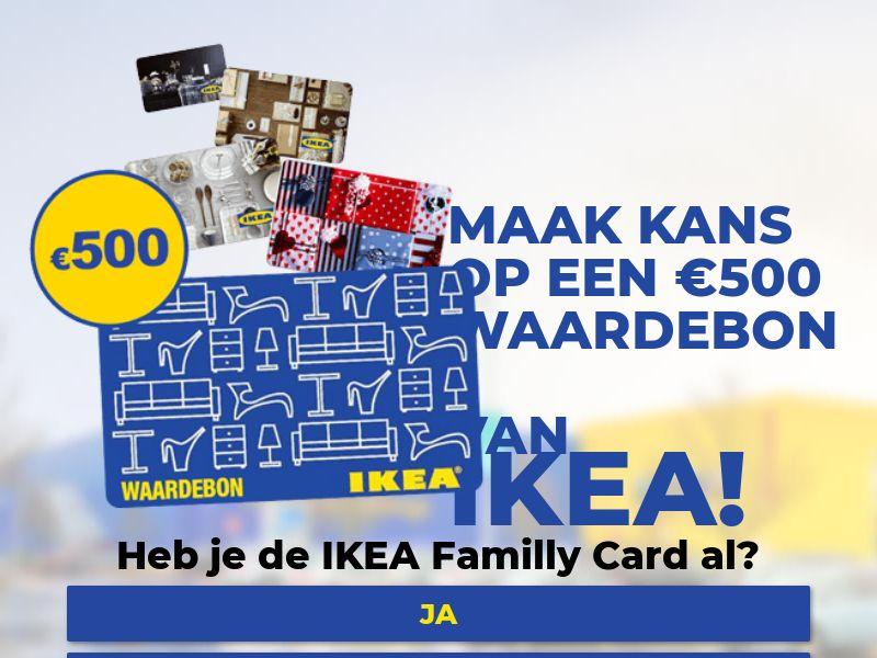Sweepstakes IKEA €500 - 1 Year - Homeware - CPL - [NL]