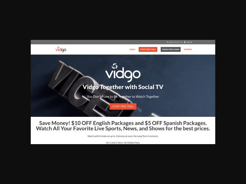 Vidgo Video Streaming (US) CPS