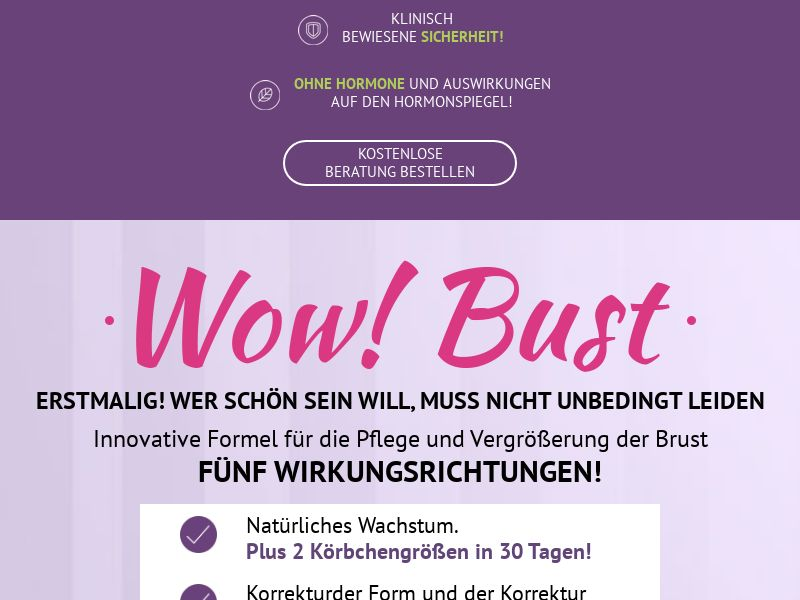 Wow Bust DE - breast enhancement cream