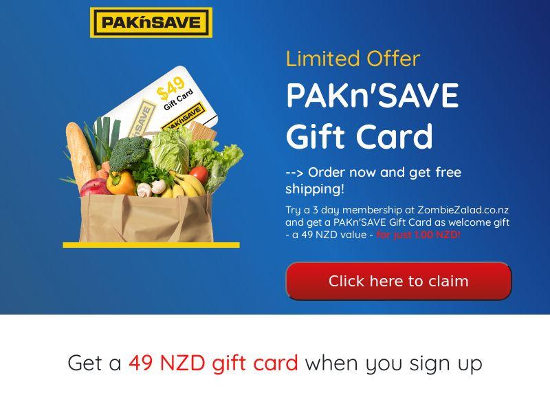 PAKn'SAVE (Supermarket Giftcard) - NZ