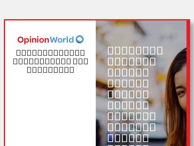 OpinionWorld DOI CPL - Thailand