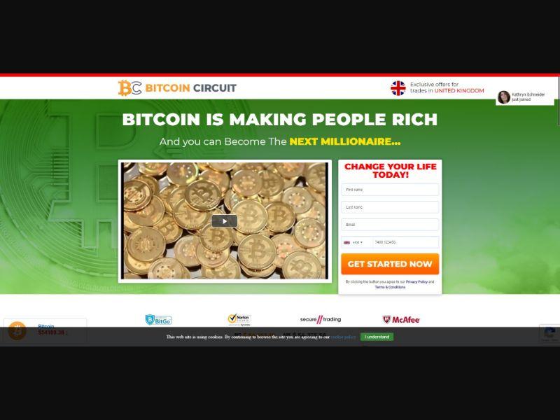 Bitcoin Circuit - $250 min CTC - VSL - Crypto - SS - [13 GEOs]