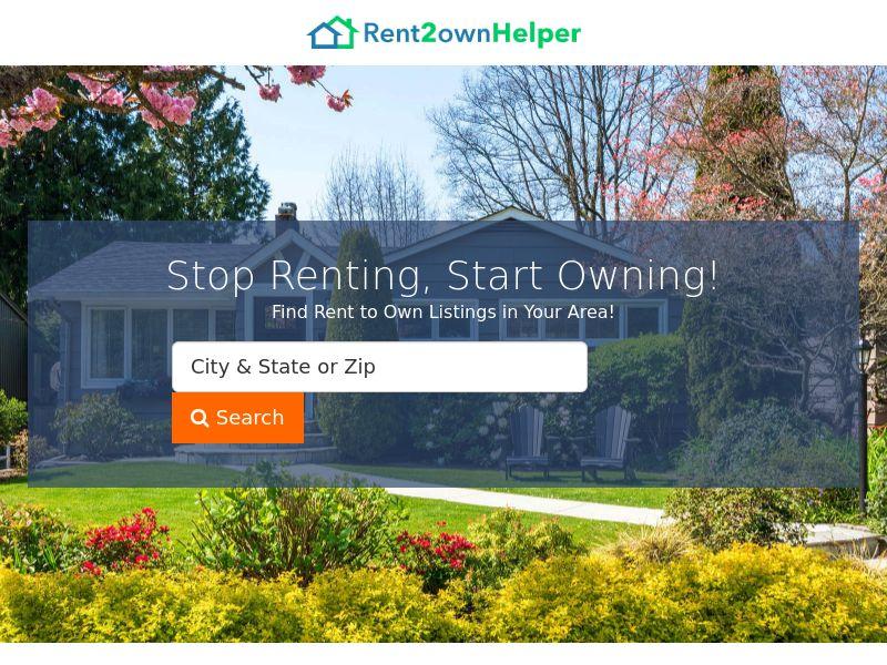 Real Estate - Rent 2 Own Helper - CPL (US)