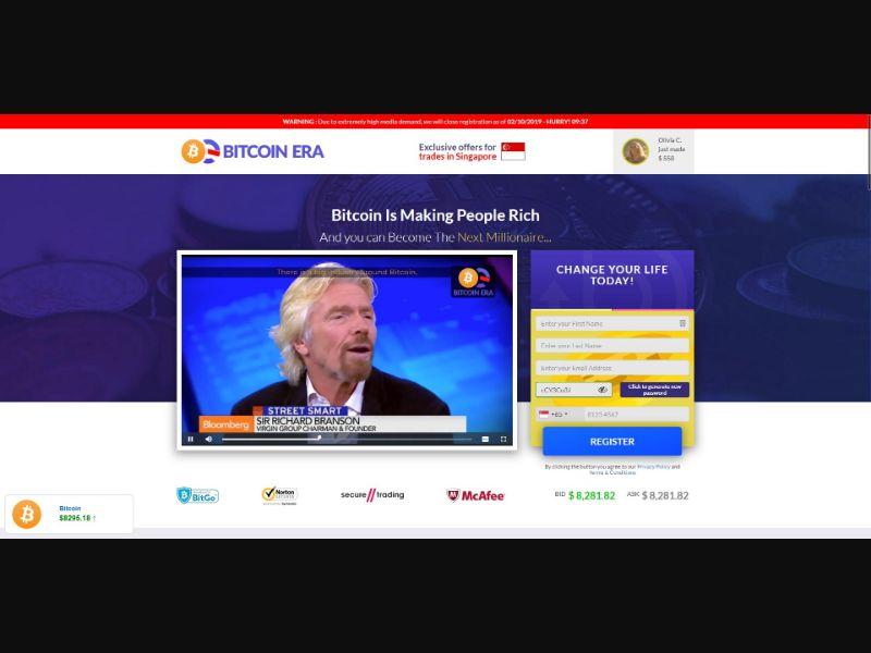 Bitcoin Era - Crypto - SS - [AU, UK, SG, HK]